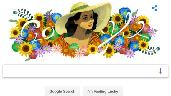 The Google logo honoring Dolores del Rio.