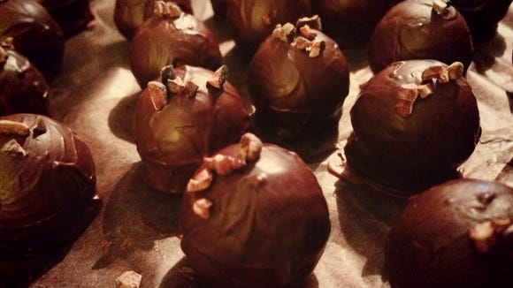 Seneca Lake-based Rue Claire Lavender Farm and Artisan Chocolate specializes in bold flavor pairings, including chocolate with fennel and mint or espresso and maple syrup.  Provided photo.