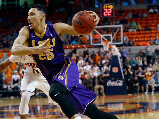 LSU's Ben Simmons, a versatile, playmaking forward, is expected to be the top pick on Thursday. Todd J. Van Emst/Opelika-Auburn News via AP, File