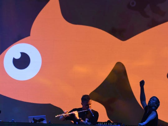 Goldfish performs at the Bonnaroo Music and Arts Festival