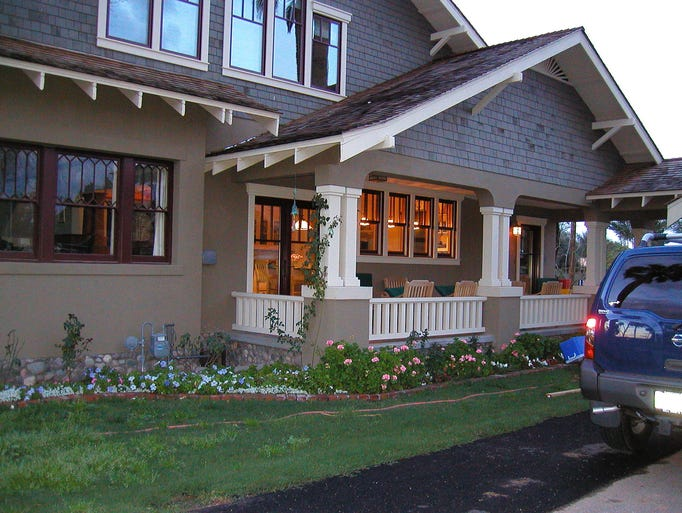 The Hearns rebuilt their porches in traditional Bungalow