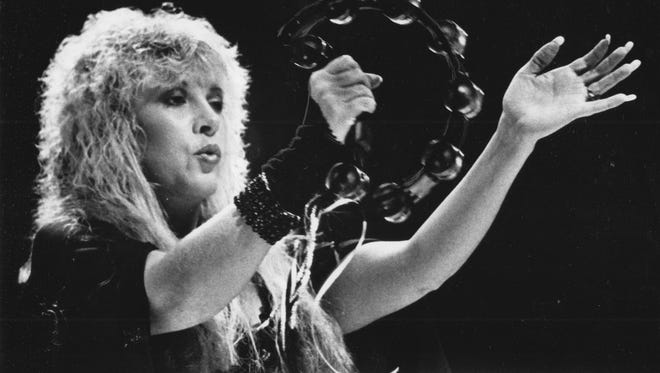 Stevie Nicks performs with Fleetwood Mac at Market Square Arena in 1987.