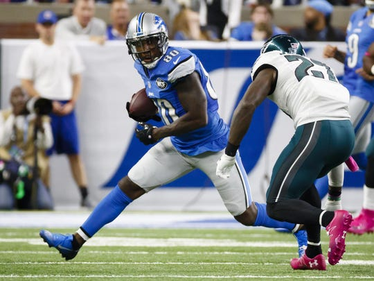 Receiver Anquan Boldin played 14 seasons in the NFL, his last with the Lions in 2016.
