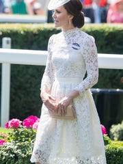 Duchess Kate of Cambridge attends Royal Ascot in a