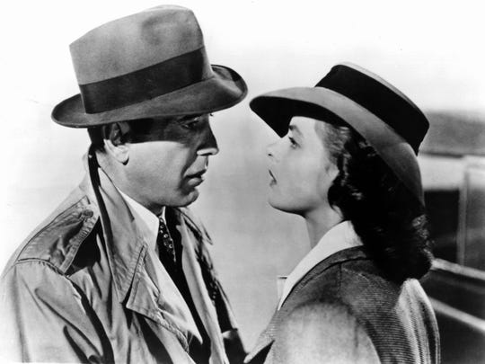 Humphrey Bogart and Ingrid Bergman in 'Casablanca.'
