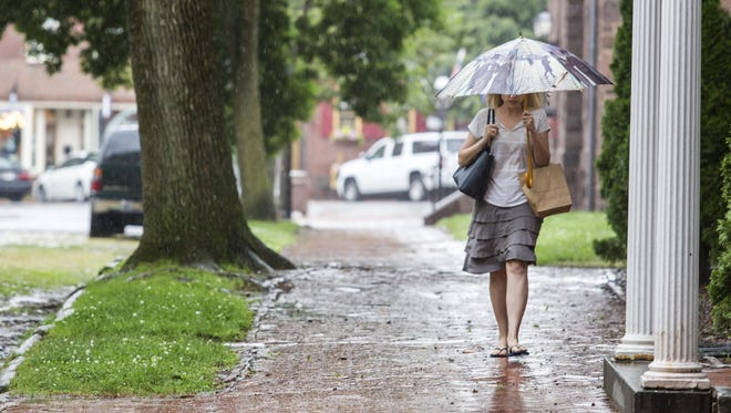 The National Weather Service said northern New Castle and Cecil counties are under a flood advisory until 2:45 a.m.