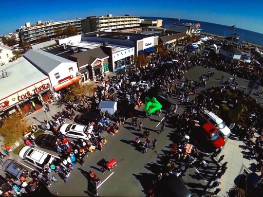 An aerial shot of Sea Witch Festival with T.J. Redefer's