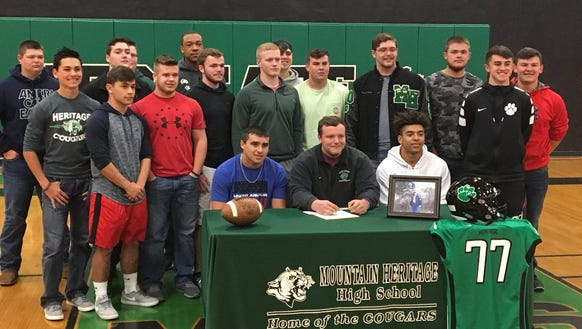 Mountain Heritage senior Kane McCandless signed with