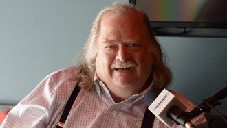 Los Angeles Times food critic Jonathan Gold, seen here in May, has died at 57.