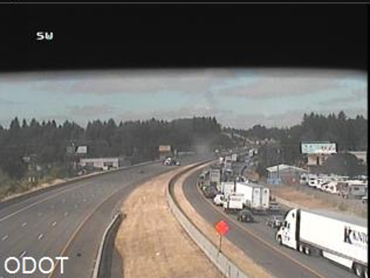 A crash near Kuebler Boulevard on Interstate 5 created heavy delays Thursday morning.