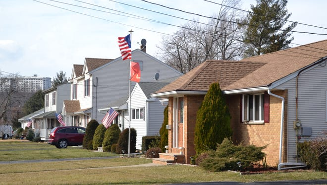 Homes along Donnalin Place in Clifton, where a home was burglarized of jewelry