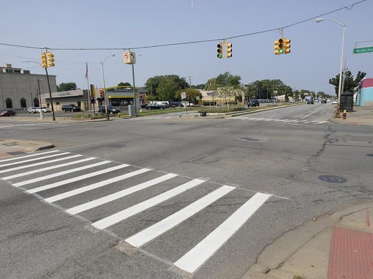 The intersection of Livernois and Nichols in Detroit, where streetscape improvements are planned from there along LIvernois to Greenlawn.