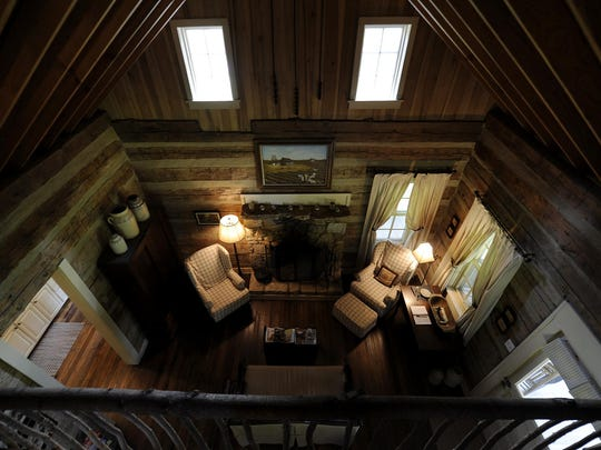 Inside the Cabin in the Pines at Green Frog Farm in Alamo.