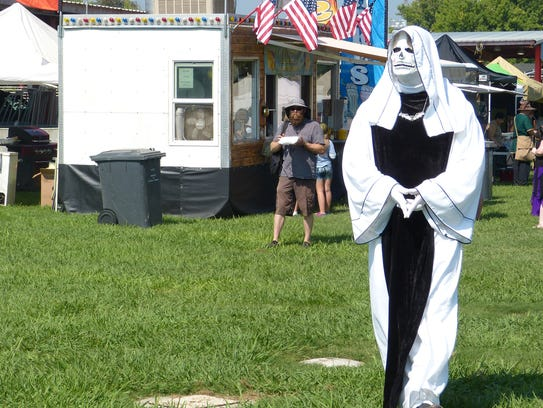 """""""Death"""" walks the grounds of the Shasta District Fair"""