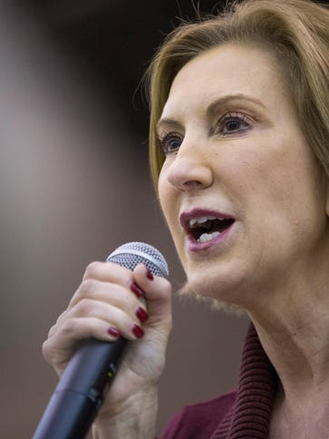 GOP Presidential Candidates Ben Carson And Carly Fiorina Attend BBQ In Iowa
