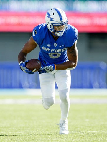 Air Force Falcons wide receiver Jalen Robinette (9)