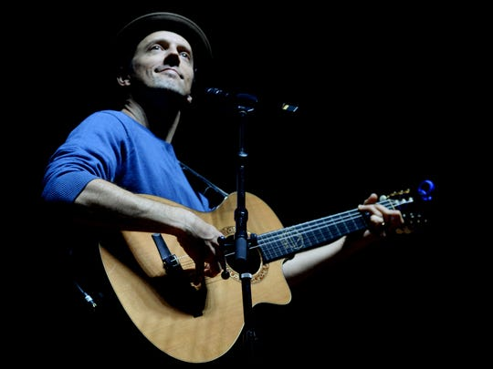 "Two-time Grammy-winning musician kicked off his national tour, ""An Evening with Jason Mraz, Solo Acoustic."" Saturday evening at the Shreveport Municipal Auditorium."