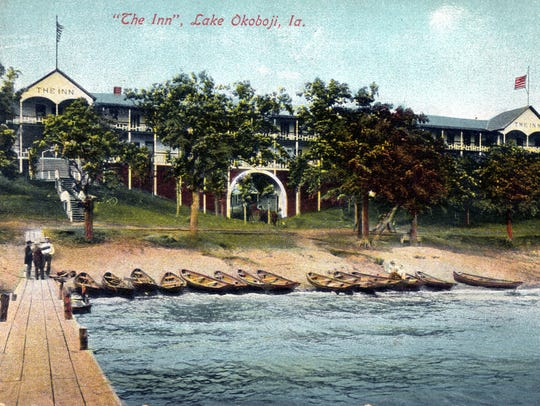 A photo from the 1920s shows The Inn in Okoboji, Iowa.
