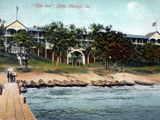 A photo from the 1920s shows The Inn in Okoboji, Iowa. The Inn was later rebuilt in 1957. Those structures will be demolished in March.