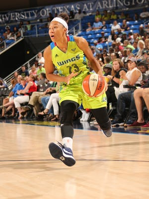 Former Michigan State star Aerial Powers averaged 14.2 points over the final six games of her rookie season with the Dallas Wings.