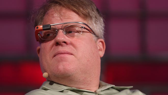 Tech blogger Robert Scoble wears Google Glass at the Dublin web summit being held at the RDS in October 2013. Scoble apologized Friday for sexually harassing women in the tech industry.