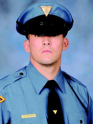 New Jersey State Trooper Sean Cullen was fatally struck by a vehicle on the side of Interstate 295 March 7, 2016.