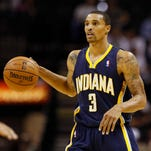 Indiana Pacers guard George Hill (3) is a former member of the San Antonio Spurs.