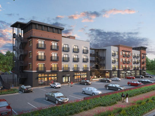 A rendering shows what the new Galloway Creek development, located at 3938 S. Lone Pine Ave., will look like.