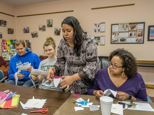 Crystal Hernandez, youth coordinator at Voces, demonstrates