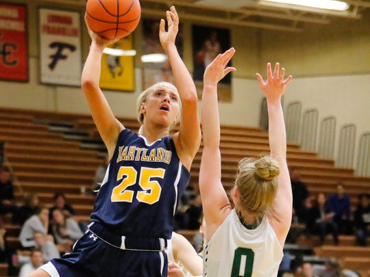 Hartland's Whitney Sollom scored 22 points in a 54-44