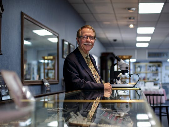 Bill Mosher, who co-owns Moshers Jewelers with his