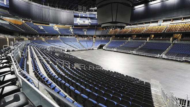 Amway Center in Orlando, home of the NBA's Orlando Magic, has sat empty since mid-March due to the league shutdown as a result of the coronavirus pandemic. The league plans to restart at a centralized location on July 31 at Disney World Orlando.