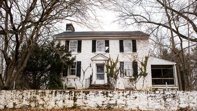 A historic home at 501 Mt. Lebanon Rd. sits slated for demolition on Thursday afternoon.