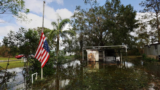Hurricane Irma flooded most of Suncoast Estates trailer park in North Fort Myers in September.
