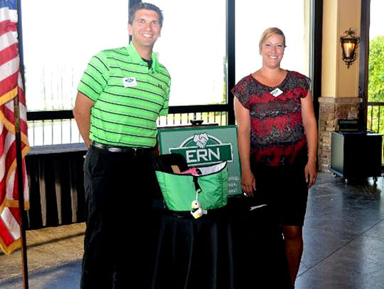 ERN member Kevin Appnel, left, welcomes ROTZ Commercial