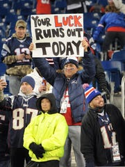 New England Patriots fans had a clear message for the Colts following their game Sunday evening at Gillette Stadium in Foxobrough MA. Matt Kryger / The Star