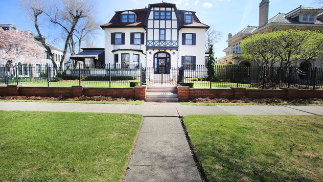 1480 Seminole is in Detroit's Indian Village. It is an Arts & Craft with Tudor influences that was built in 1910 for Fritz Goebel, son of beer brewer Augustus Goebel. The home has 5 bedrooms, 4.1 baths, and is 6,200 square feet. Photographed Tuesday, April 28, 2015.