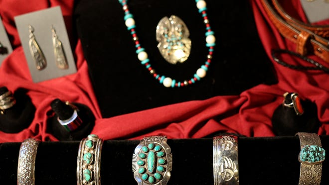 Antique and contemporary jewelry from the American Southwest is on exhibit at the Willamette Trading Company, a new art gallery in the Willamette Heritage Center.