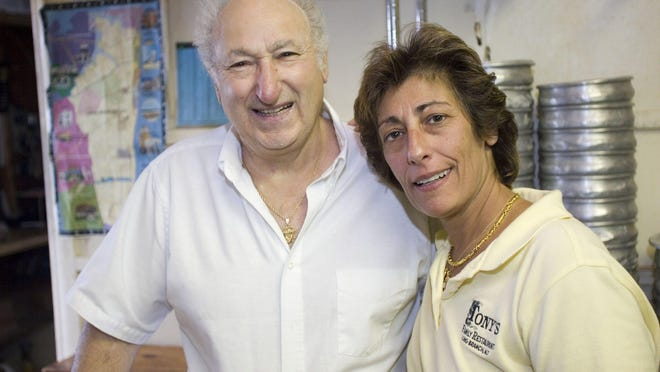 Tony's Tomato Pies owner Anthony Chiafullo and daughter Gina in 2007. Anthony Chiafullo died in 2012.