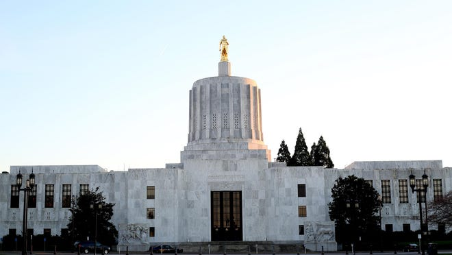 ANNA REED / Statesman JournalVolunteer opportunities at the state Capitol include gift store cashier, information kiosk attendant, tour guide and legislative doorkeeper. The Oregon State Capitol building. Photographed in Salem on Tuesday, March 3, 2015.