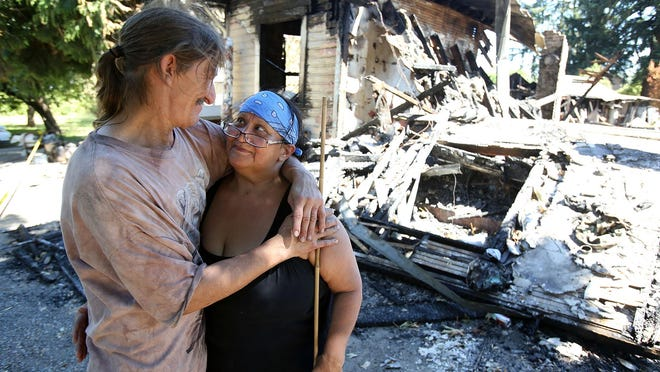 Randy and Debbie Wilson lost everything when their home located near Portland Road NE burned on June 20. Photo taken on Wednesday, July 1, 2015, in Salem, Ore.