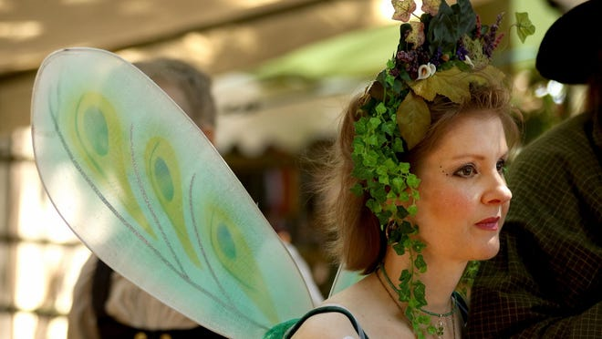 Tara Ryan, 45, of Mount Angel, dresses as a pixie Sunday, July 19, at the Canterbury Renaissance Faire in Silverton.