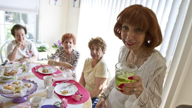 At the final gathering of The Wippities are (from left) Rosalie Petoia of Newark, Anne Tomaro of Manasquan, Millie Coughlin of Manasquan and Terry Perna of Marlboro.