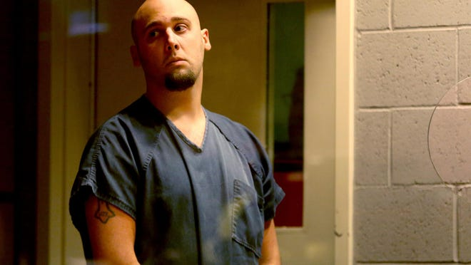 David Gene Elliott Jr., 28, of Albany, at an arraignment for two counts of murder, five counts of first-degree criminal mistreatment and five counts of third-degree assault in the 2013 death of Aniya Zamora at the Marion County Circuit Court Annex in Salem on Friday, July 31, 2015. Elliott entered no plea and no bail was set.