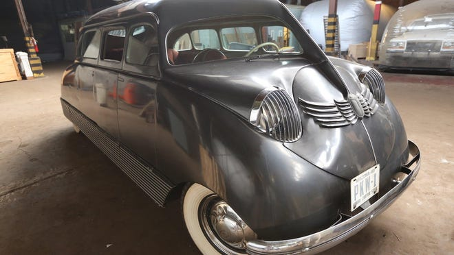 This Scarab designed by William B. Stout was made for the 1935 auto show, but his company folded before the event was held. Instead, it went to one of its investors, Philip K. Wrigley, of chewing gum and Chicago baseball fame. He kept it at his summer home and in the late 1950's, it was donated to the Detroit Historical Society.