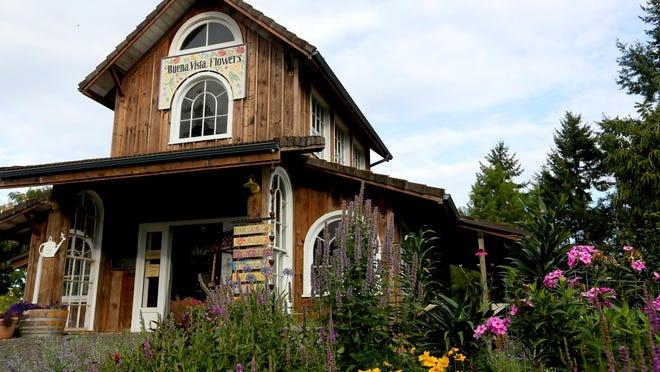 The garden store at Buena Vista Flowers is in Buena Vista, near Independence.