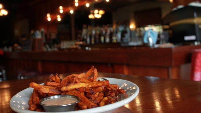 Trumpet Blossom Cafe's sweet potato fries are seen on Tuesday, Oct. 6, 2015.