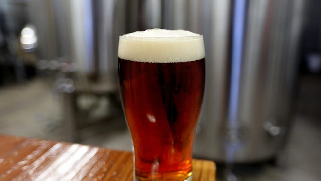 The Azimuth Amber at Salem Ale Works in Salem on Dec. 4.