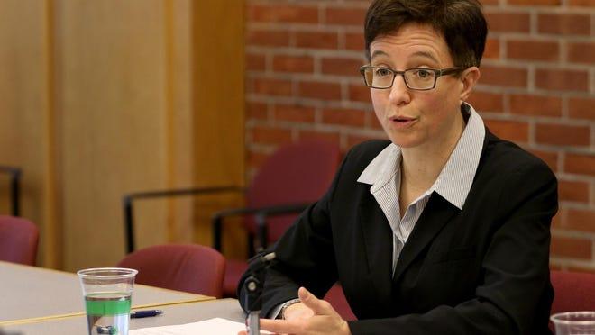 Oregon Speaker of the House Tina Kotek meets with the Statesman Journal Editorial Board on Thursday, Jan. 21.