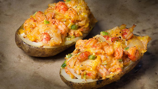 Crawfish stuffed and twice baked, this recipe will change the way you look at baked potatoes.